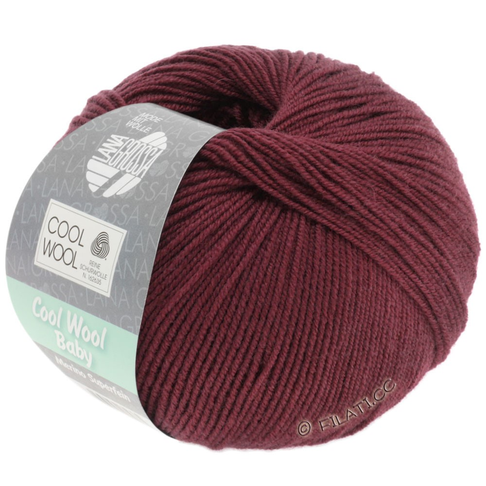 Lana Grossa COOL WOOL Baby Uni/Degradé | 262-бургунд