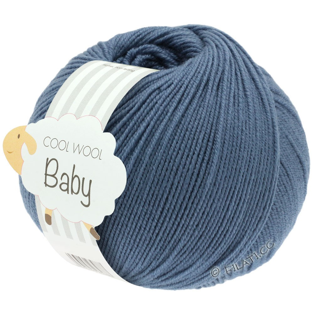 Lana Grossa COOL WOOL Baby Uni/Degradé | 263-светло синий
