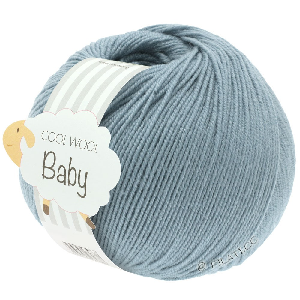 Lana Grossa COOL WOOL Baby Uni/Degradé | 264-серо-синий