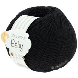 Lana Grossa COOL WOOL Baby 50g | 278-чёрный