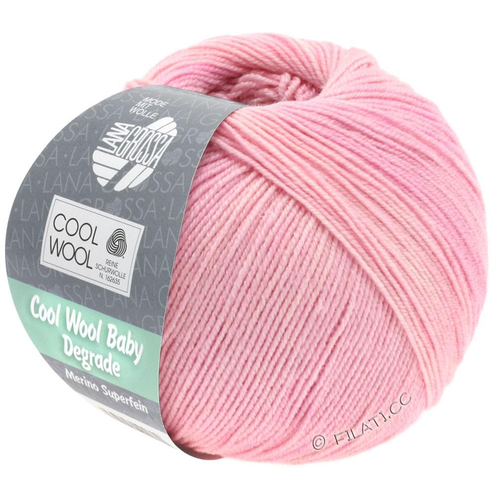 Lana Grossa COOL WOOL Baby Degradé | 501-мягко-розовый/розовый/сирень