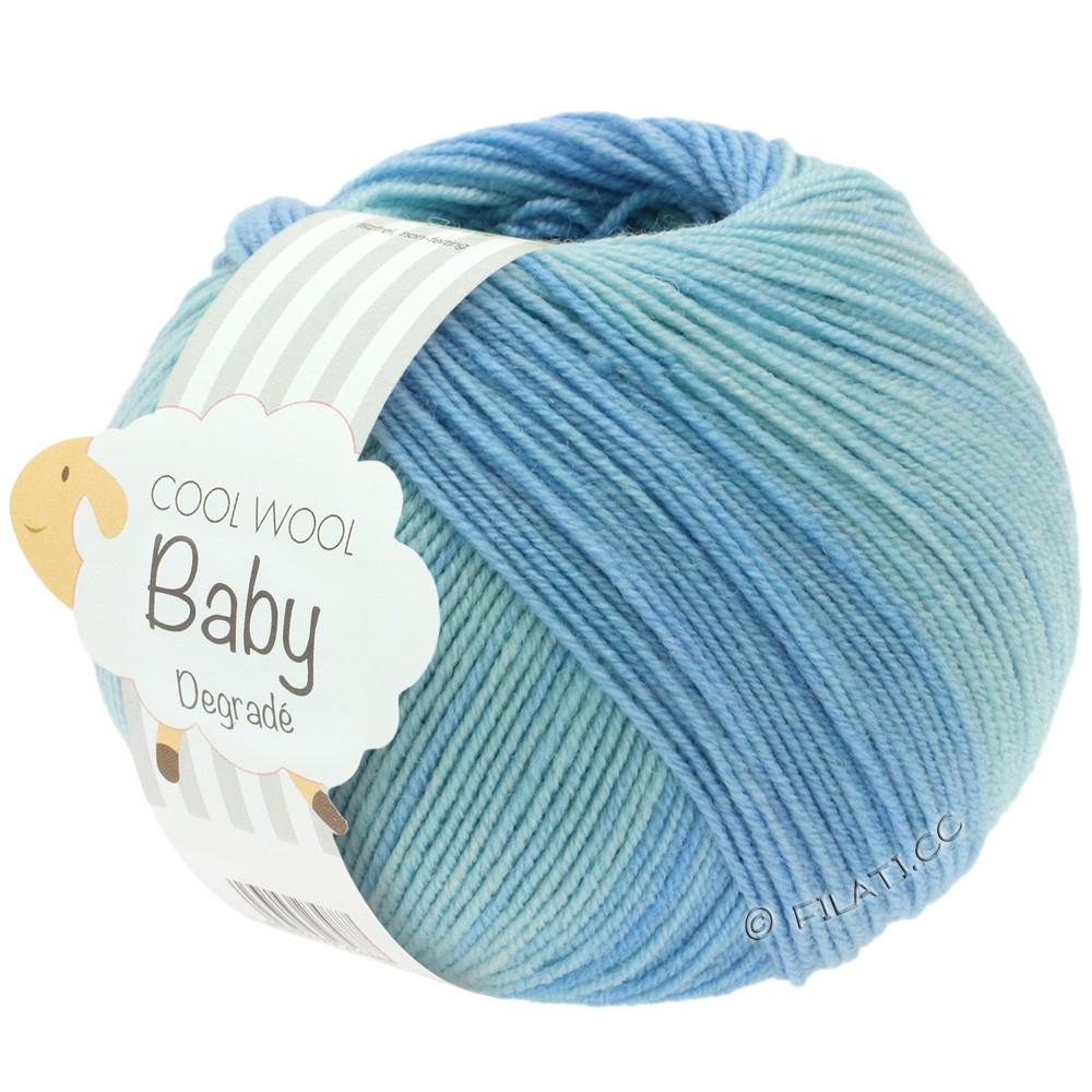 Lana Grossa COOL WOOL Baby Uni/Degradé | 503-бледно-голубой/мягко-синий/светло-голубой/ветреница