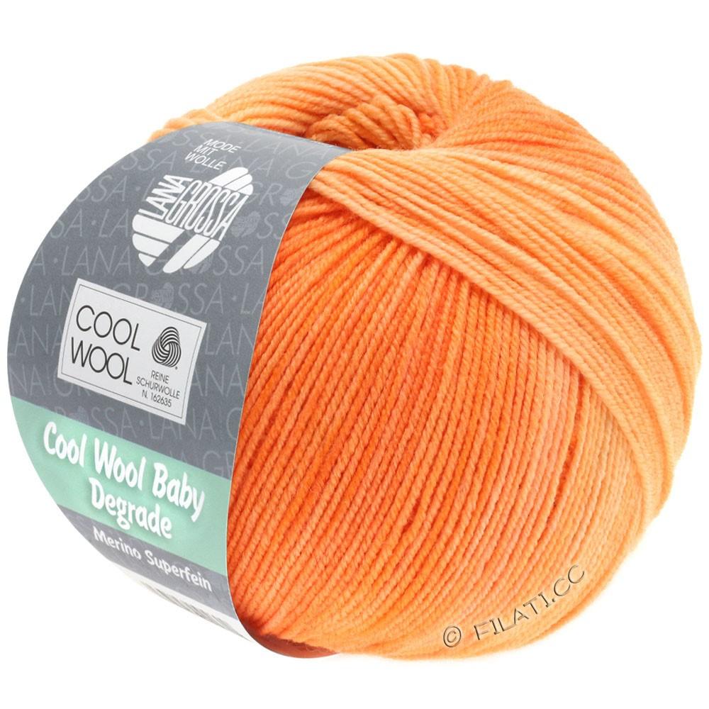 Lana Grossa COOL WOOL Baby Degradé | 505-оранжевый/персик/деликатным оранжевый/абрикос