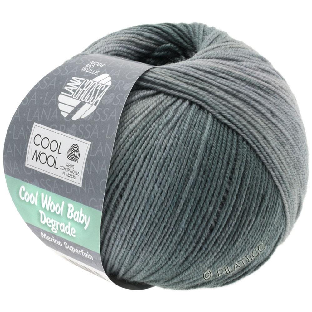 Lana Grossa COOL WOOL Baby Uni/Degradé | 506-светло-серый/серый камень/графит