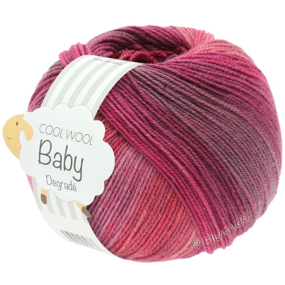 Lana Grossa COOL WOOL Baby Uni/Degradé | 507-ягодный/старо-фиолетовый/малиновый