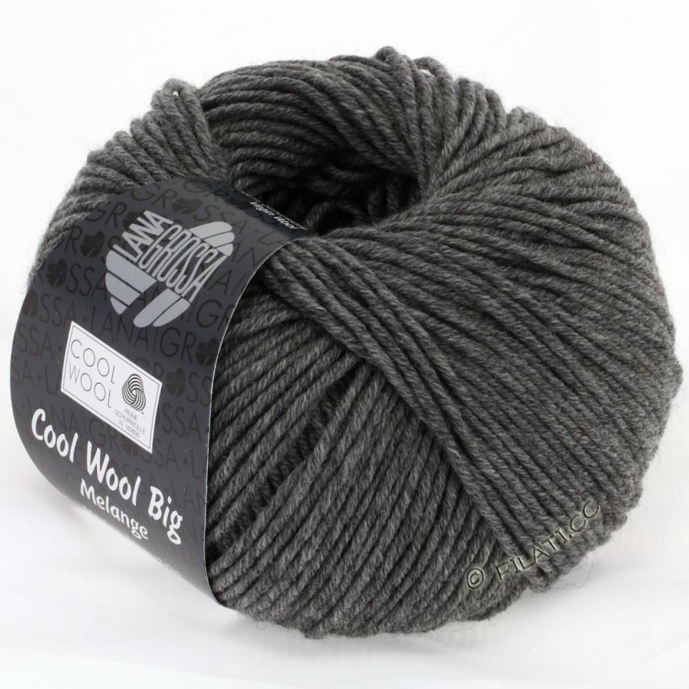 Lana Grossa COOL WOOL Big Uni/Melange/Print уни/меланж/принт | 0617-тёмно-серый смешанный