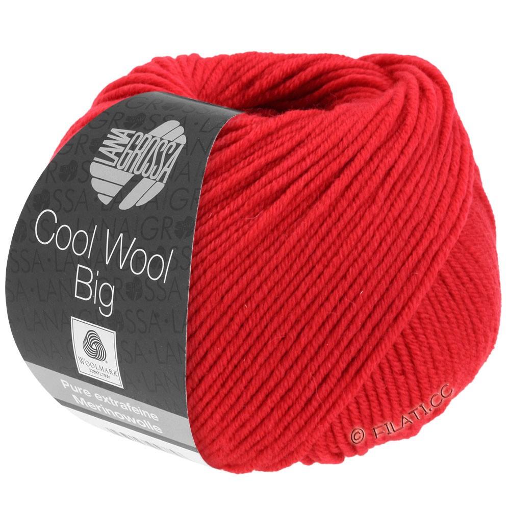 Lana Grossa COOL WOOL Big Uni/Melange/Print уни/меланж/принт | 0648-карминно-красный