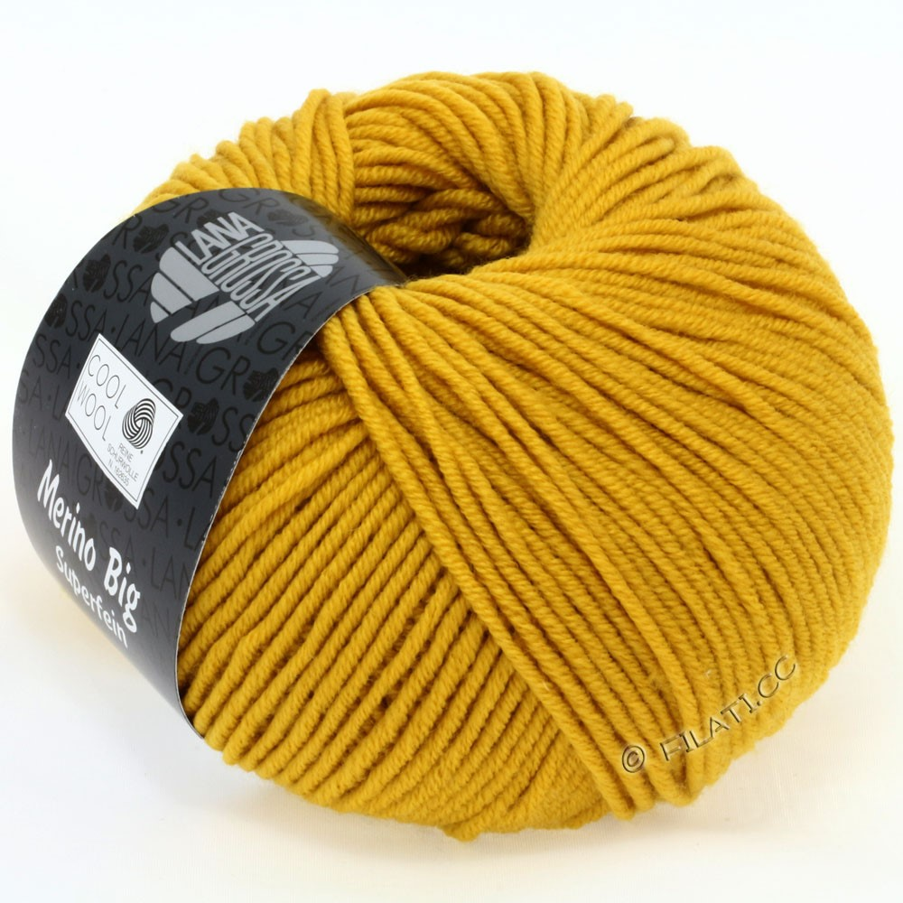 Lana Grossa COOL WOOL Big Uni/Melange/Print уни/меланж/принт | 0903-горчично-желтый