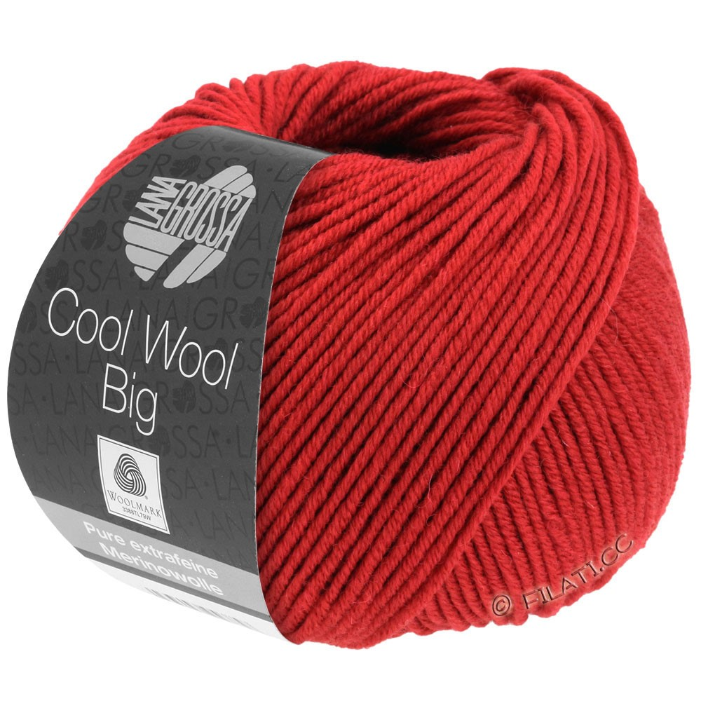 Lana Grossa COOL WOOL Big Uni/Melange/Print уни/меланж/принт | 0924-тёмно-красный