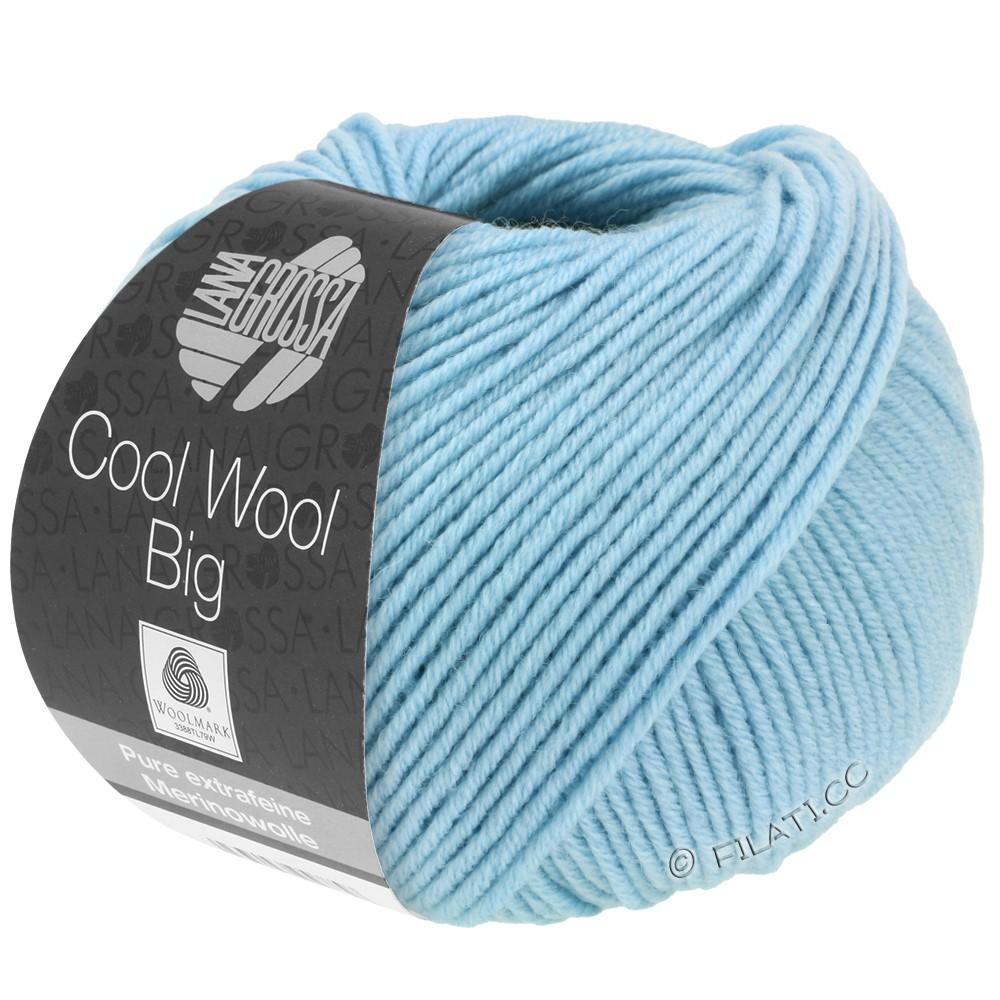 Lana Grossa COOL WOOL Big  Uni/Melange уни/меланж | 0946-голубой