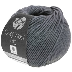 Lana Grossa COOL WOOL Big  Uni/Melange уни/меланж | 0981-серая сталь