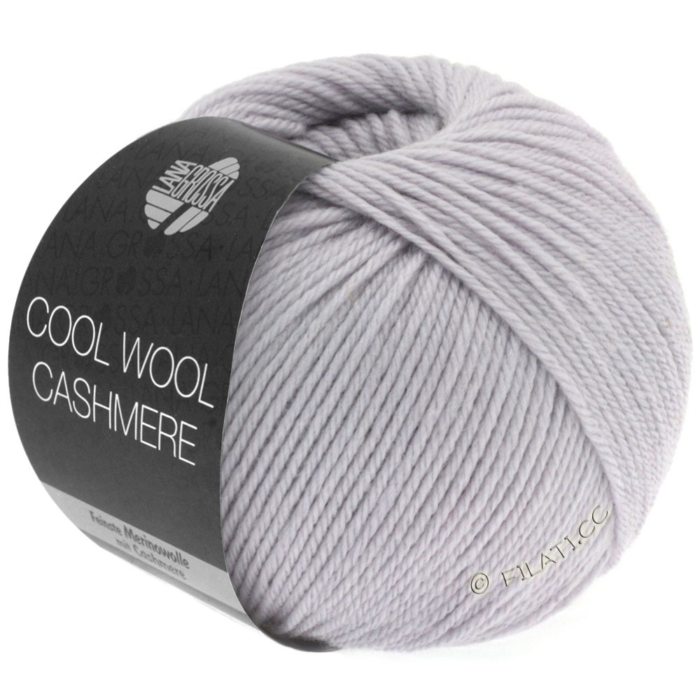 Lana Grossa COOL WOOL Cashmere   01-мягко-фиолетовый