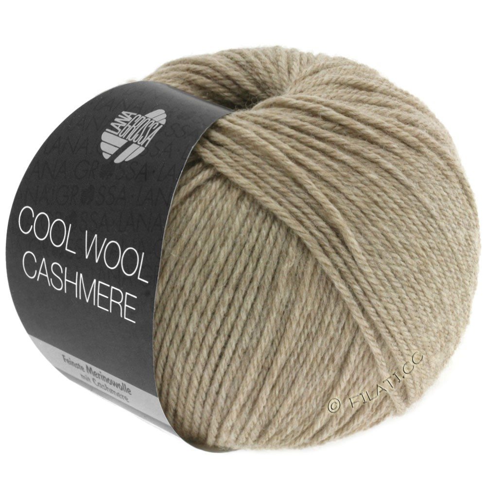 Lana Grossa COOL WOOL Cashmere | 06-серо-коричневый