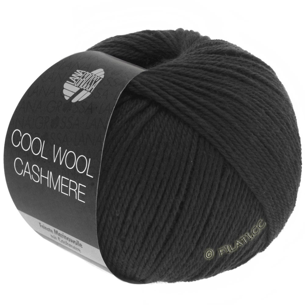 Lana Grossa COOL WOOL Cashmere | 15-чёрный