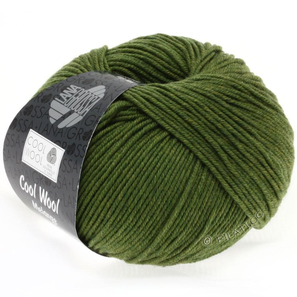 Lana Grossa COOL WOOL   Uni/Melange/Neon | 0101-оливково-зелёный  меланжевый