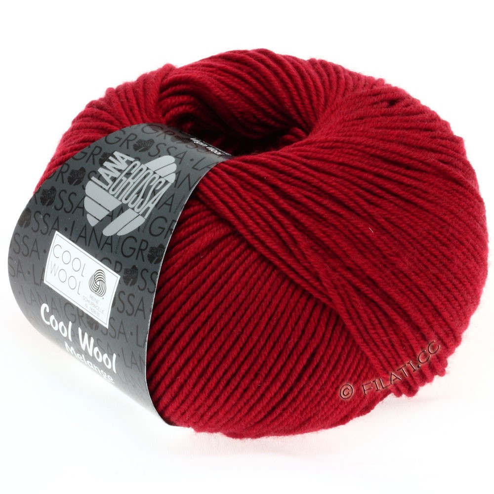 Lana Grossa COOL WOOL   Uni/Melange/Neon | 0102-красный меланжевый