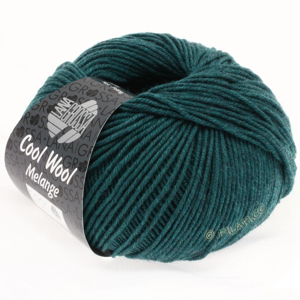Lana Grossa COOL WOOL   Uni/Melange/Neon | 0107-петроль меланжевый