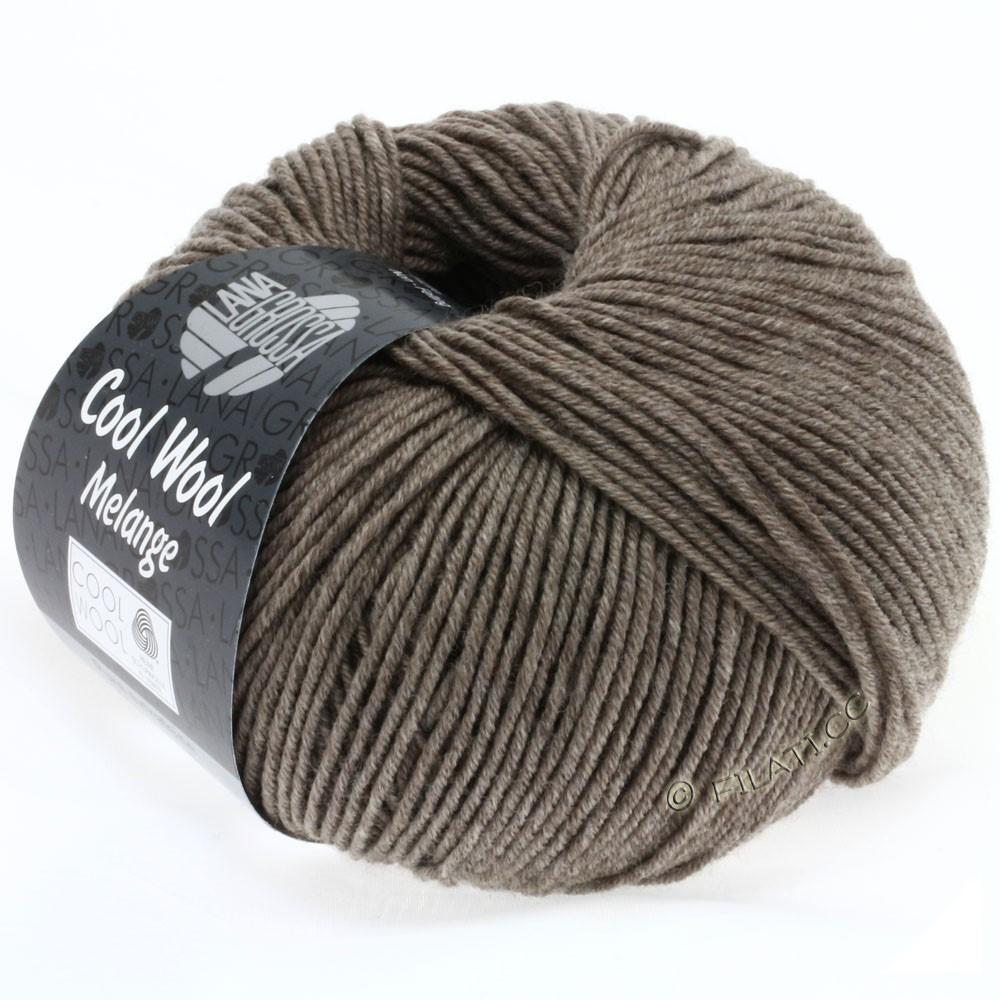 Lana Grossa COOL WOOL   Uni/Melange/Neon | 0115-серо-коричневый