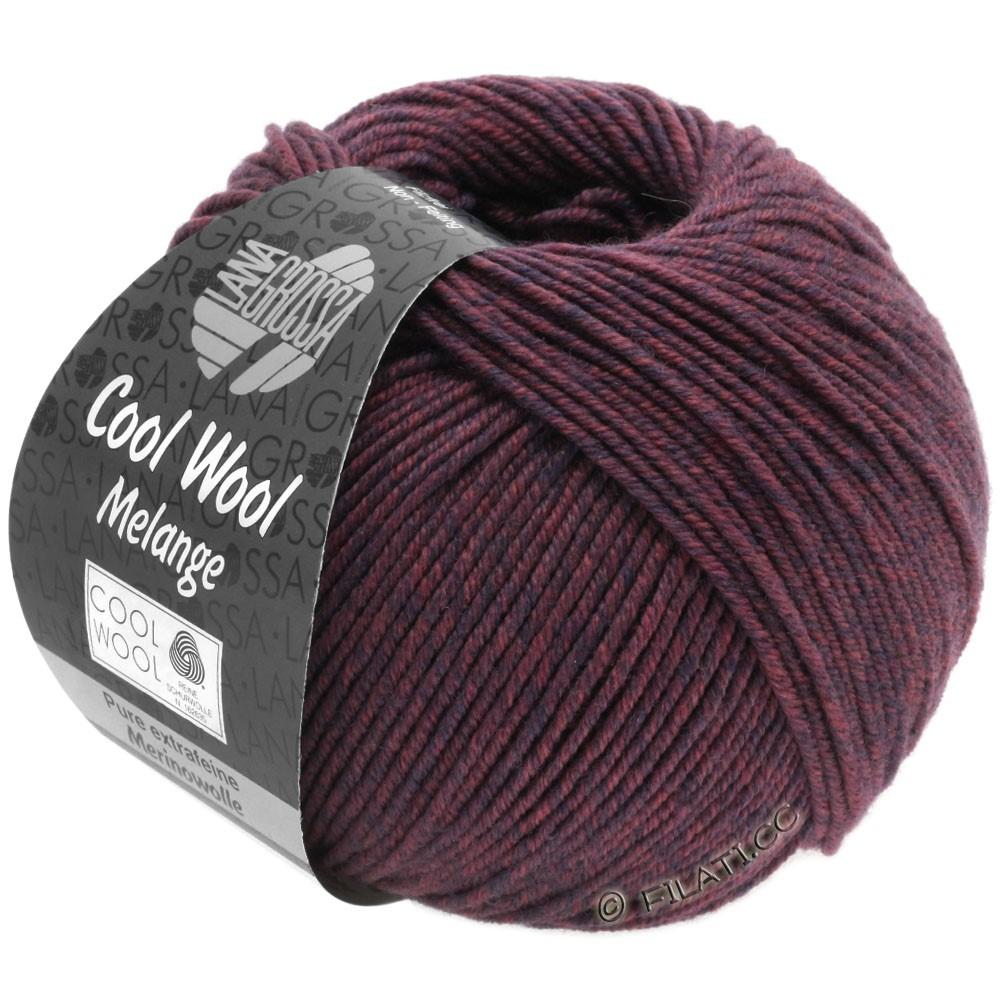 Lana Grossa COOL WOOL   Uni/Melange/Neon | 0137-тёмно-синий/ягодный меланжевый