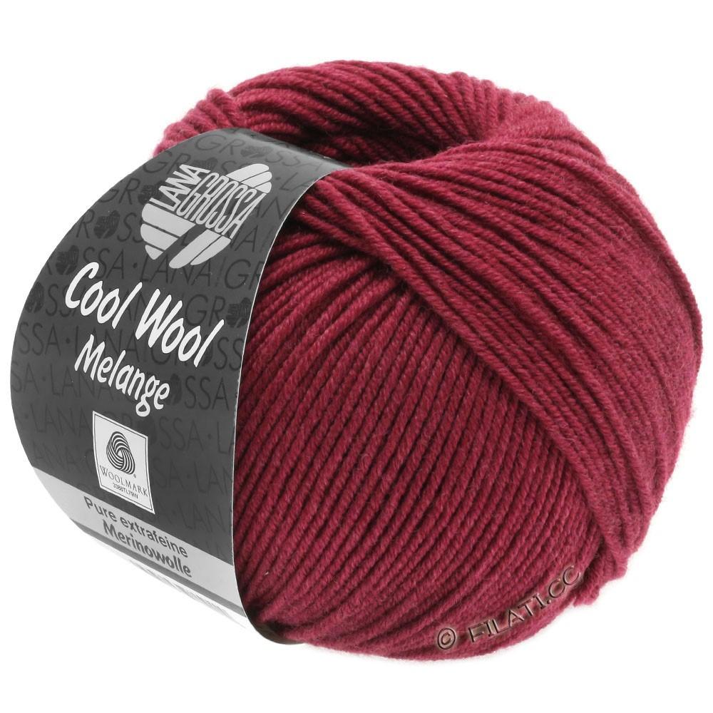 Lana Grossa COOL WOOL   Uni/Melange/Neon | 0142-красное вино меланжевый