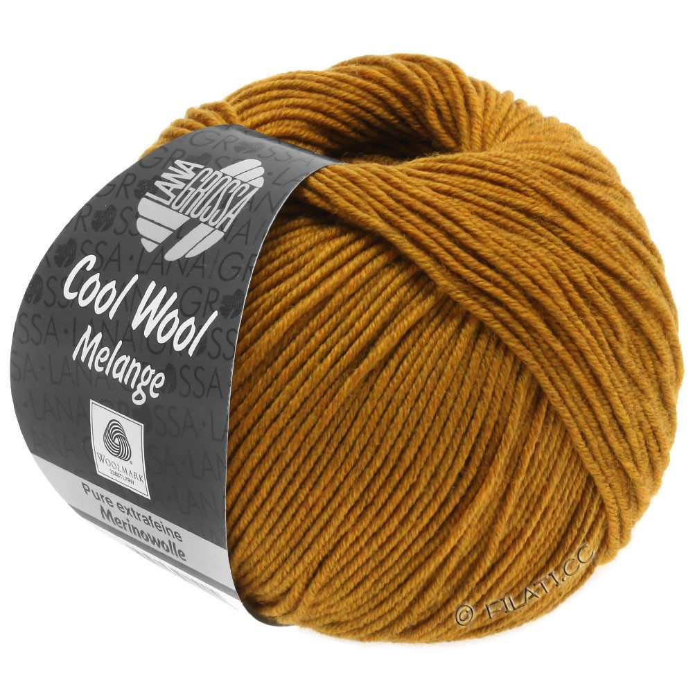 Lana Grossa COOL WOOL   Uni/Melange/Neon | 0143-янтарный меланжевый