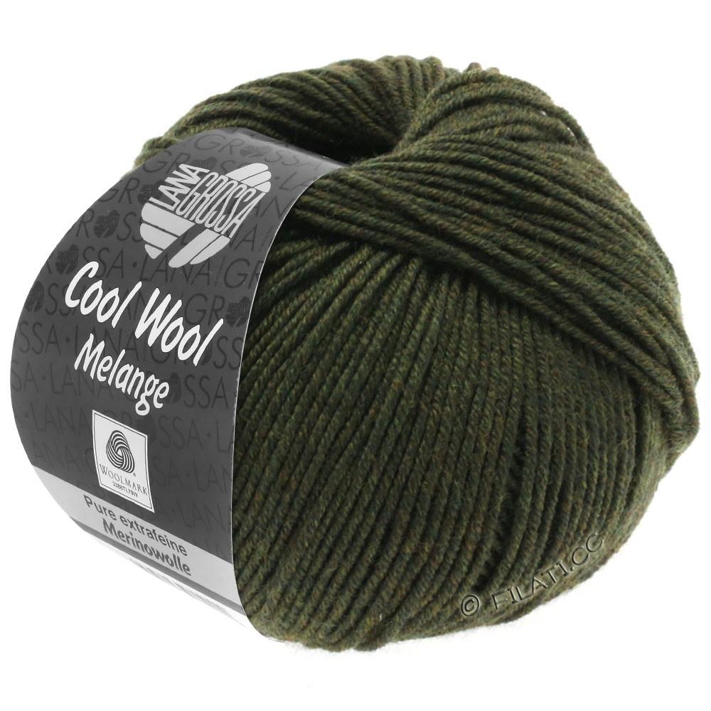 Lana Grossa COOL WOOL   Uni/Melange/Neon | 0146-темно-зеленый меланжевый