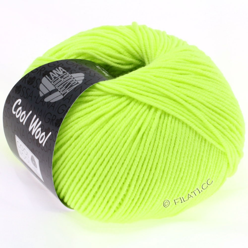 Lana Grossa COOL WOOL  Uni/Melange/Print/Degradé/Neon   2009-неоново-зеленый