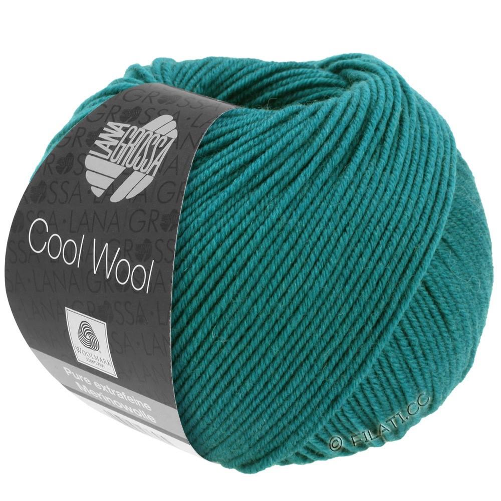Lana Grossa COOL WOOL   Uni/Melange/Neon | 2015-петроль зелёный