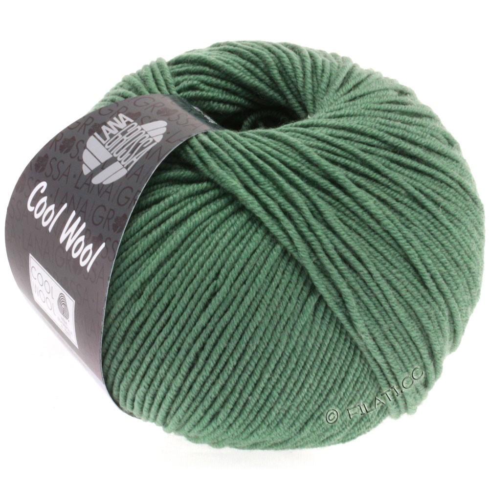 Lana Grossa COOL WOOL   Uni/Melange/Neon | 2021-тёмно серо-зеленый
