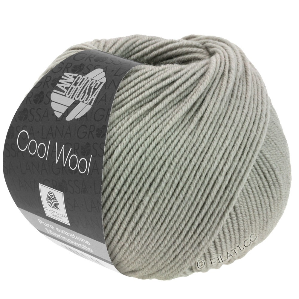 Lana Grossa COOL WOOL   Uni/Melange/Neon | 2027-серо- бежевый