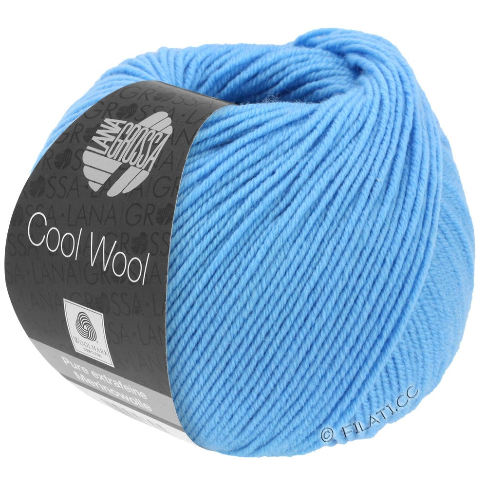 Lana Grossa COOL WOOL   Uni/Melange/Neon | 2031-голубой
