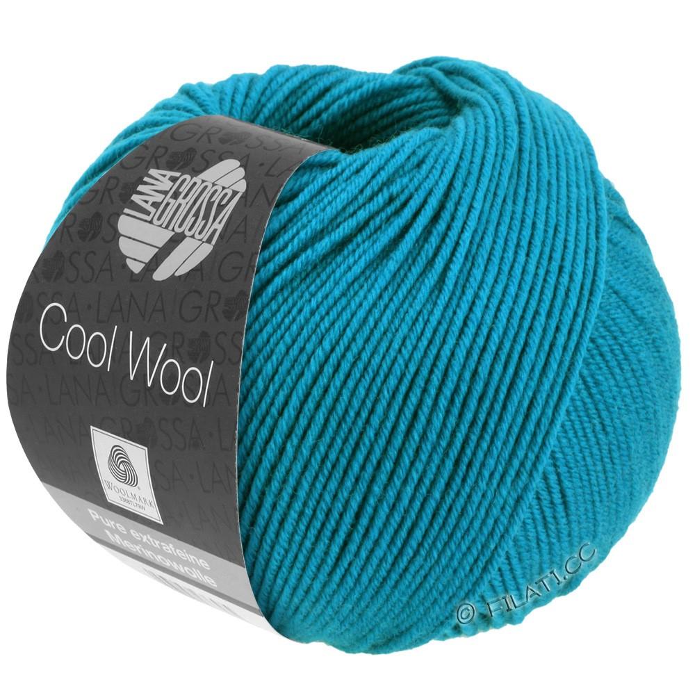 Lana Grossa COOL WOOL   Uni/Melange/Neon | 2036-лазурь