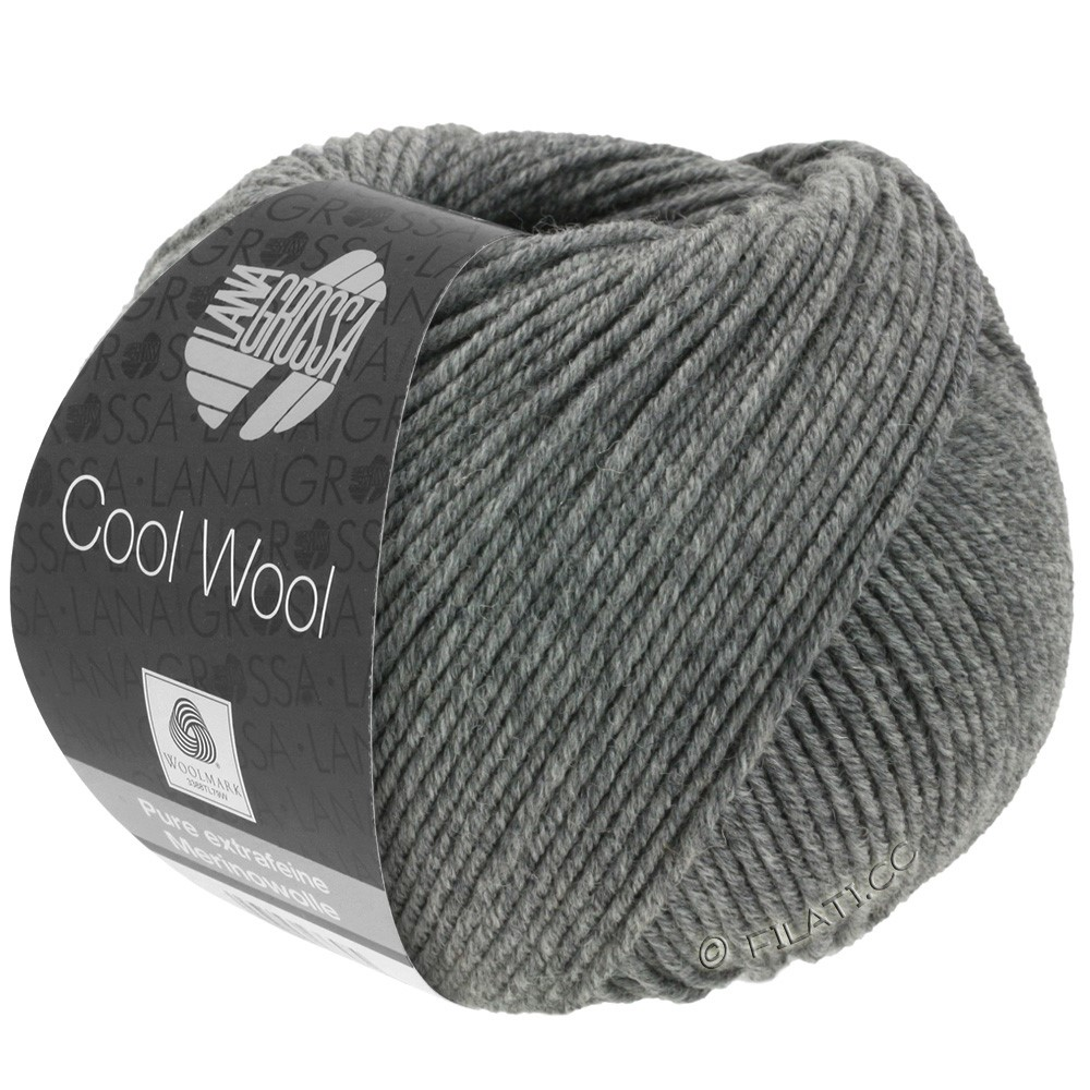 Lana Grossa COOL WOOL   Uni/Melange/Neon | 0412-тёмно-серый меланжевый