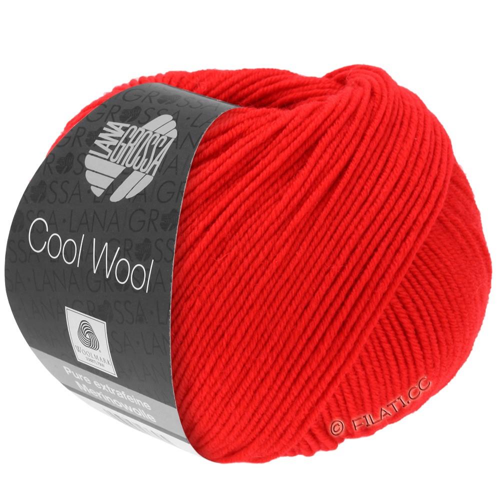 Lana Grossa COOL WOOL   Uni/Melange/Neon | 0417-светящийся красный