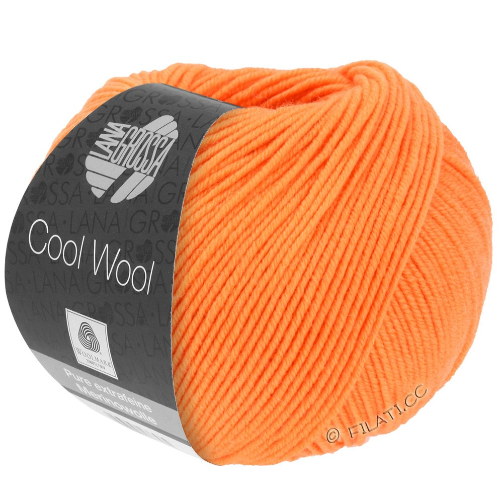 Lana Grossa COOL WOOL   Uni/Melange/Neon | 0418-мандариновый