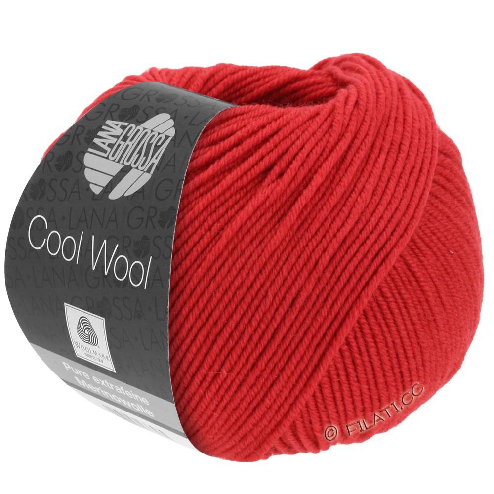 Lana Grossa COOL WOOL   Uni/Melange/Neon | 0437-карминно-красный
