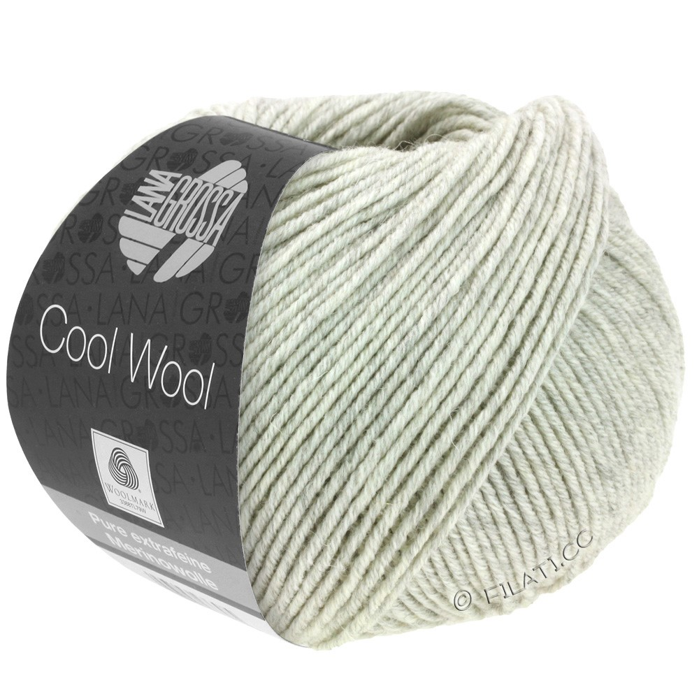 Lana Grossa COOL WOOL   Uni/Melange/Neon | 0443-светло-серый меланжевый
