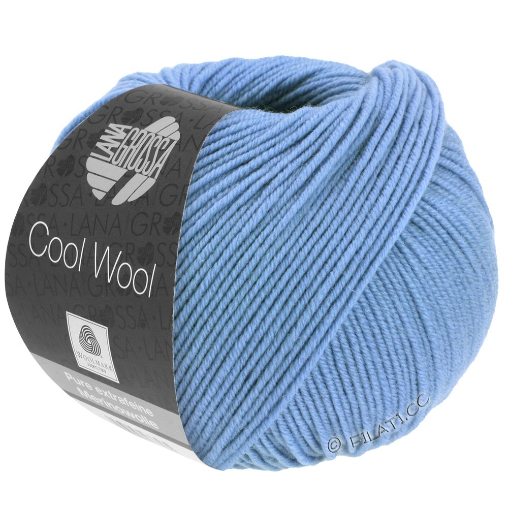 Lana Grossa COOL WOOL   Uni/Melange/Neon | 0463-василек