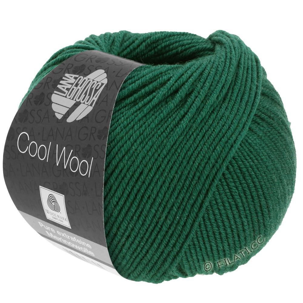 Lana Grossa COOL WOOL   Uni/Melange/Neon | 0501-бутылочный цвет