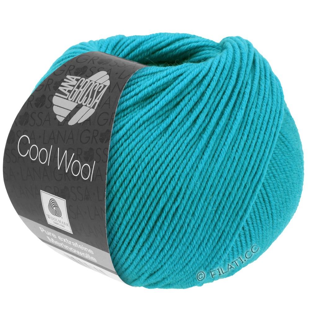Lana Grossa COOL WOOL   Uni/Melange/Neon | 0502-сине-бирюзовый