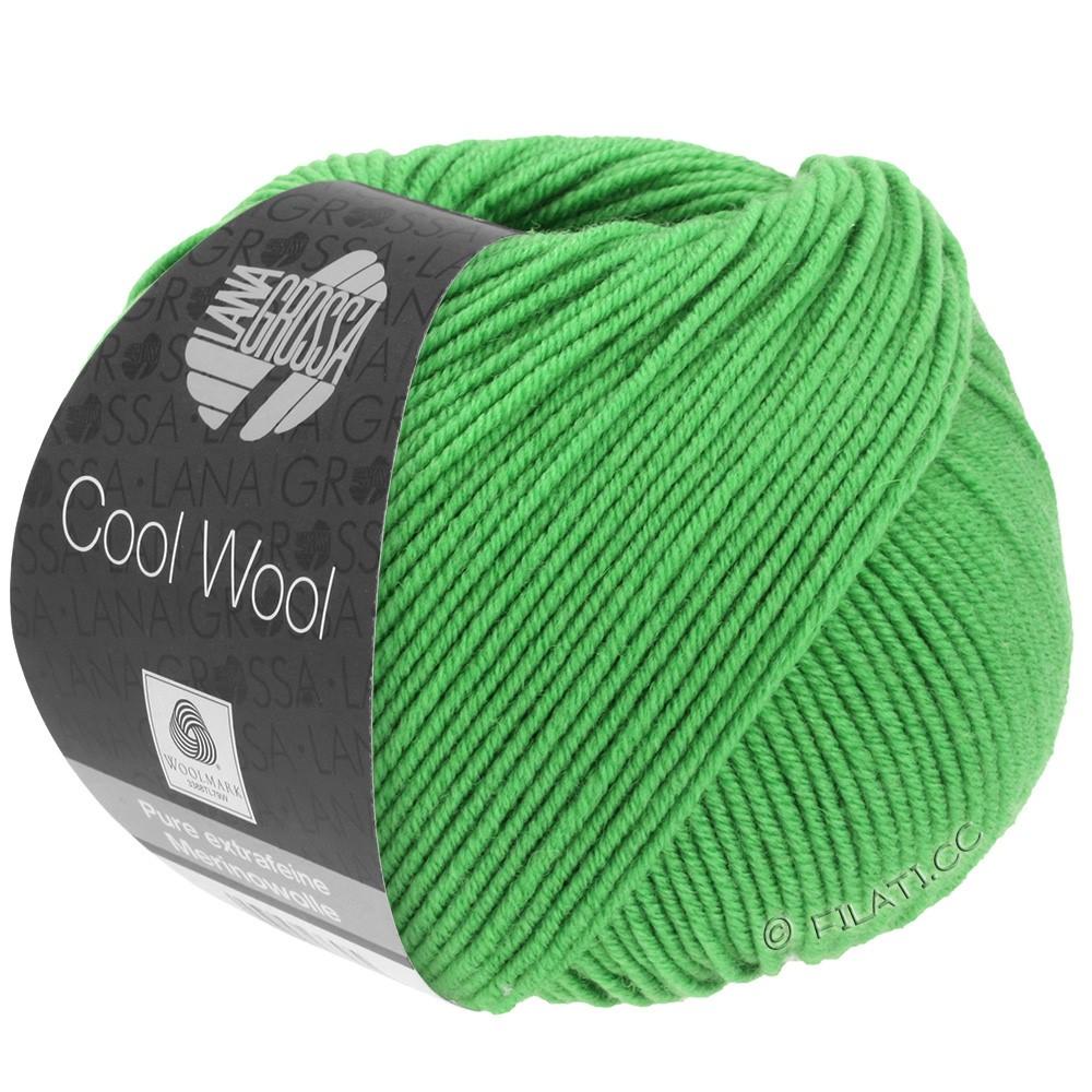 Lana Grossa COOL WOOL   Uni/Melange/Neon | 0504-зелёное яблоко