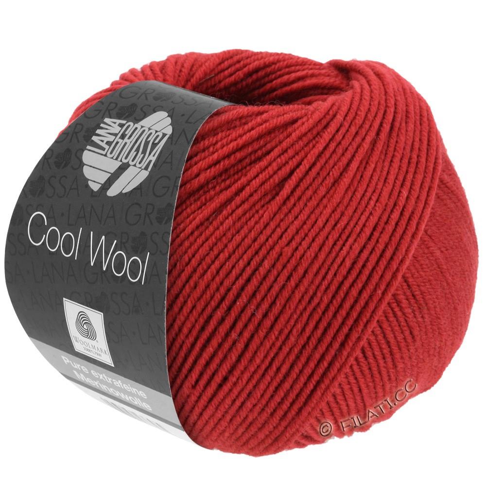 Lana Grossa COOL WOOL   Uni/Melange/Neon | 0514-тёмно-красный