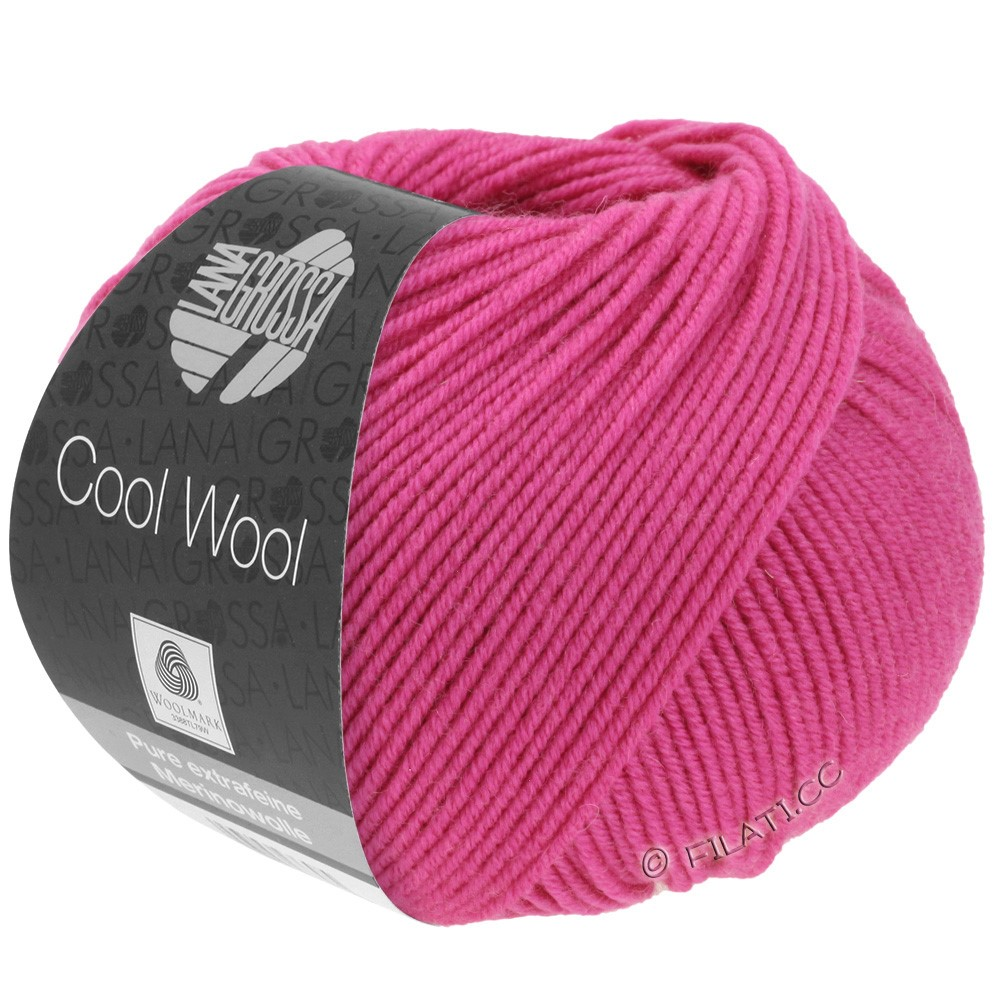 Lana Grossa COOL WOOL   Uni/Melange/Neon | 0537-цикламеновый