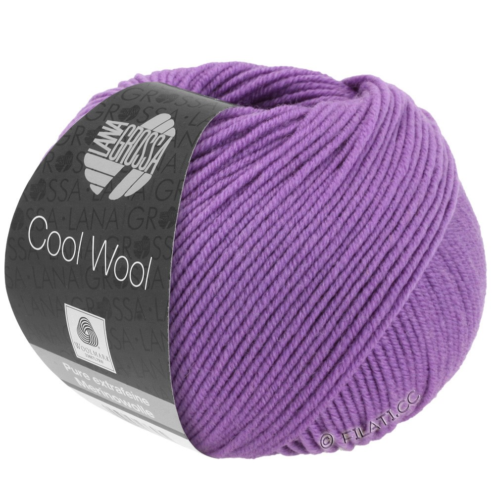 Lana Grossa COOL WOOL   Uni/Melange/Neon | 0592-тёмно-лиловый