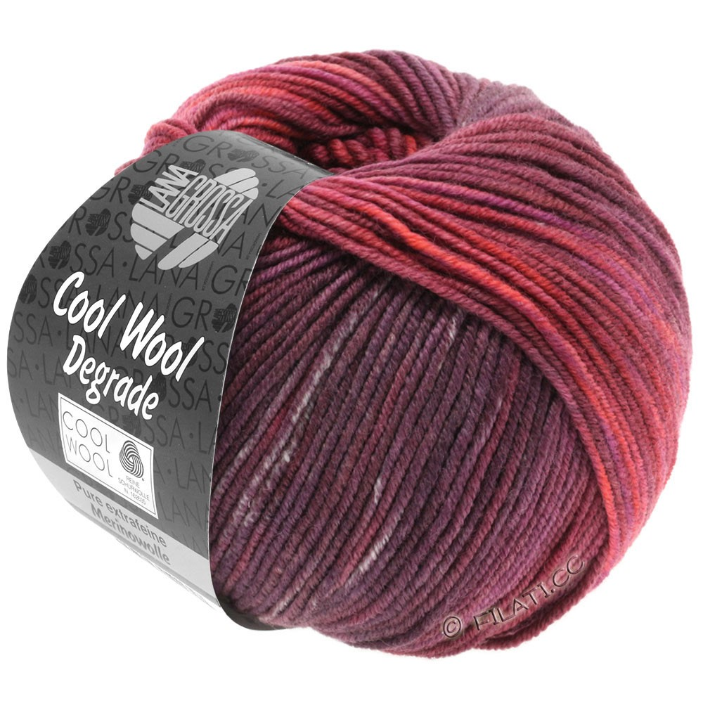 Lana Grossa COOL WOOL  Uni/Melange/Print/Degradé/Neon | 6003-ягодный/ветхо-розовый/старо-фиолетовый