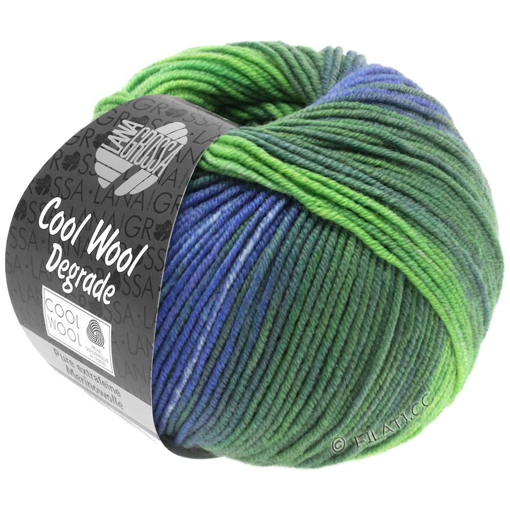Lana Grossa COOL WOOL  Uni/Melange/Print/Degradé/Neon | 6005-серо-фиолетовый/серо-зеленый/зеленый сено/жёлто-зеленый/лавандовый