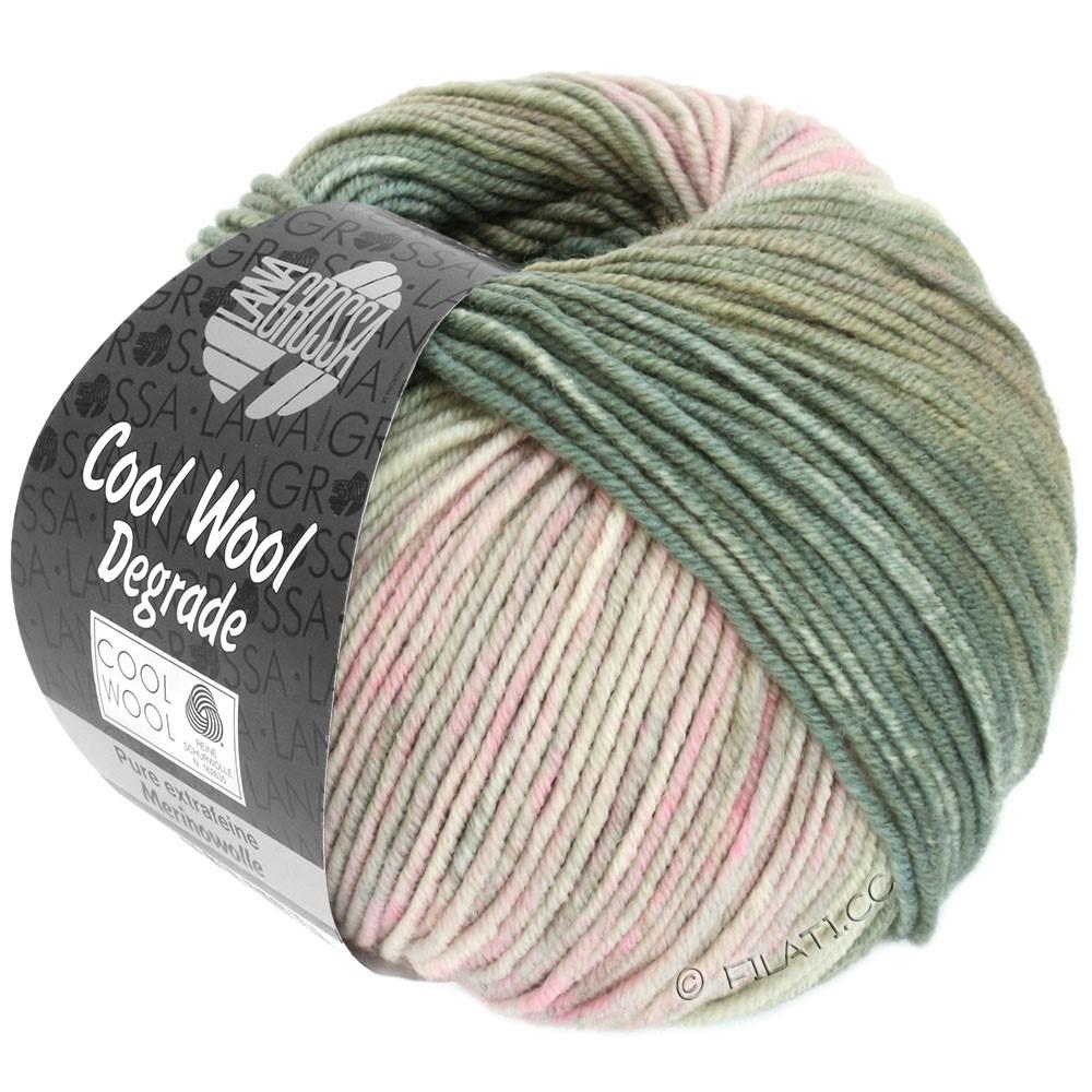 Lana Grossa COOL WOOL  Uni/Melange/Print/Degradé/Neon | 6008-тростник зеленый/зеленый сено/розовый/серо- бежевый