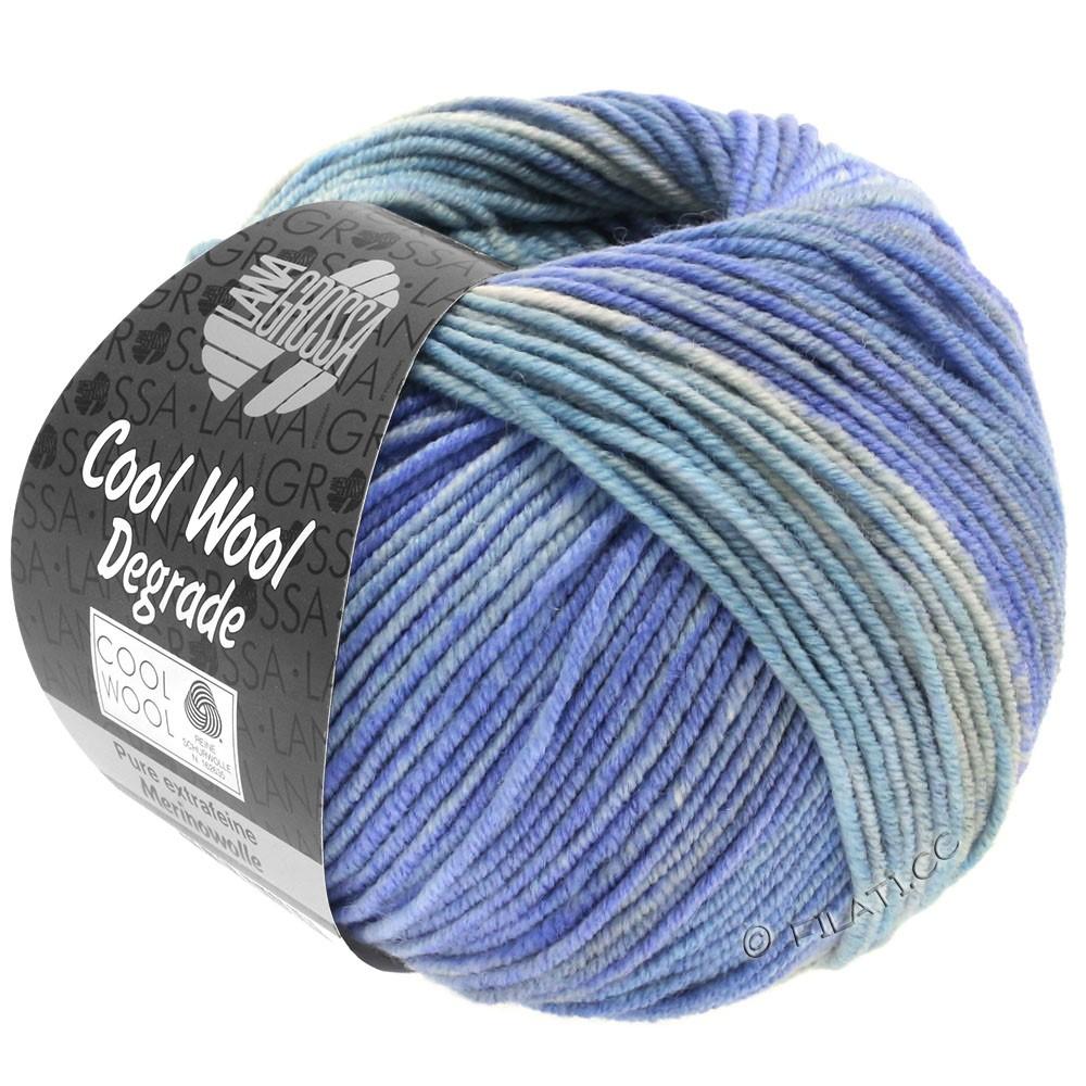 Lana Grossa COOL WOOL  Uni/Melange/Print/Degradé/Neon | 6010-светло-голубой/мягко-синий/синяя фиалка