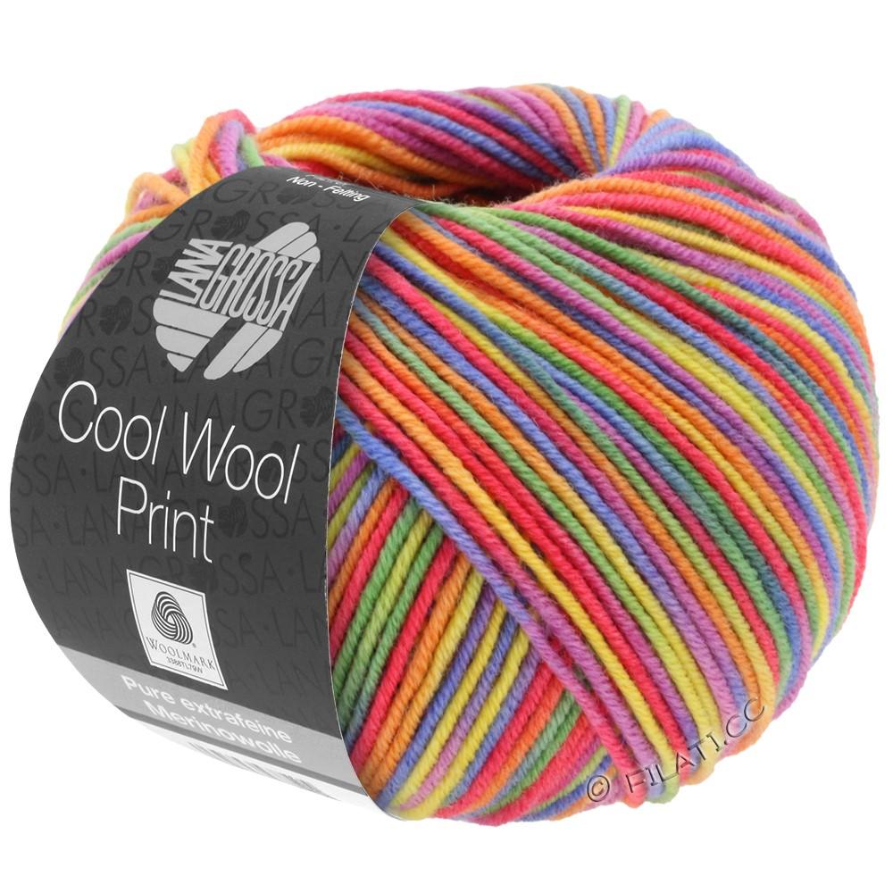 Lana Grossa COOL WOOL  Print | 703-пурпурный/зелёный/малиновый/оранжевый/жёлтый/синий