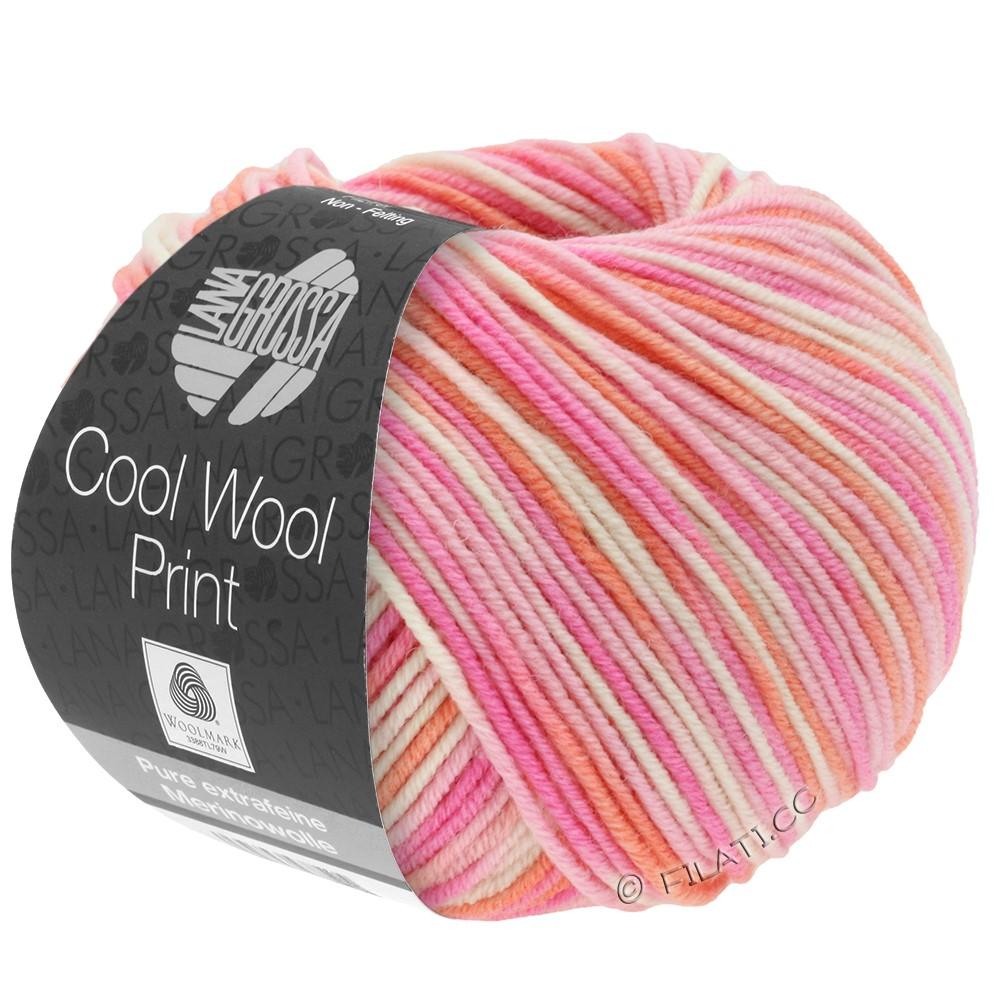 Lana Grossa COOL WOOL  Print | 726-розовый/пинк/коралловый/натуральный